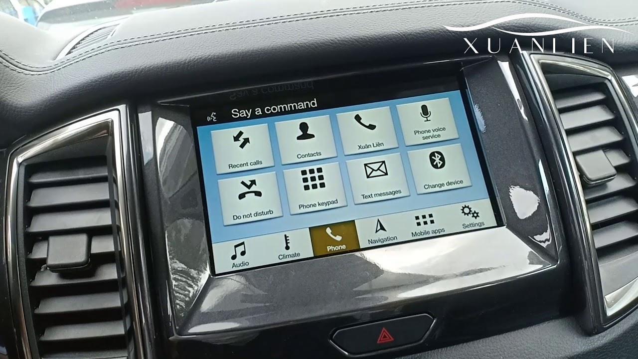 Chia sẻ cách sử dụng hệ thống SYNC 3 trên xe Ford nói chung và Ford Everest nói riêng