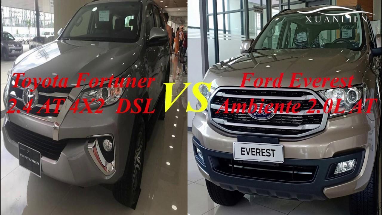 So sánh Ford Everest và Toyota Fortuner (Phần 1)